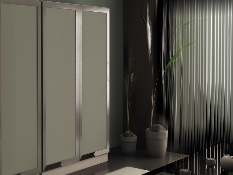 ... Polished Chrome Mirror Brown Black White Stainless Steel Bronze Brushed. We offer wide selection of inserts frosted glass painted glass ... & Polished Chrome finish Door Frames « Aluminum Glass Cabinet Doors