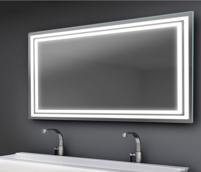 LED Mirrors Double line