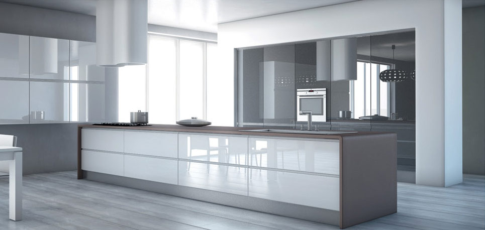 High Gloss Doors 171 Aluminum Glass Cabinet Doors