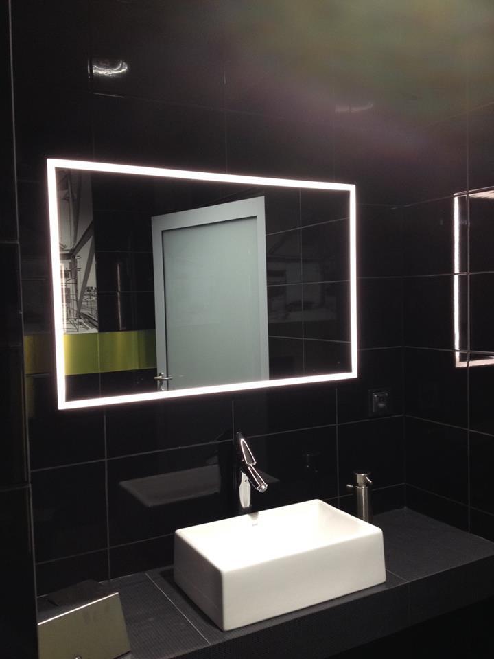 Led Illuminated Mirrors 171 Aluminum Glass Cabinet Doors