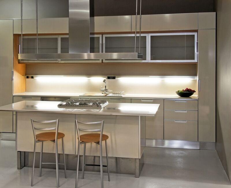 Aluminum frame vivaro aluminum glass cabinet doors for Stainless steel kitchen cabinet doors