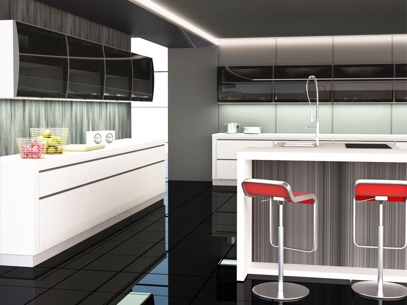 Contemporary Design Kitchen Doors Aluminum Glass Cabinet Doors