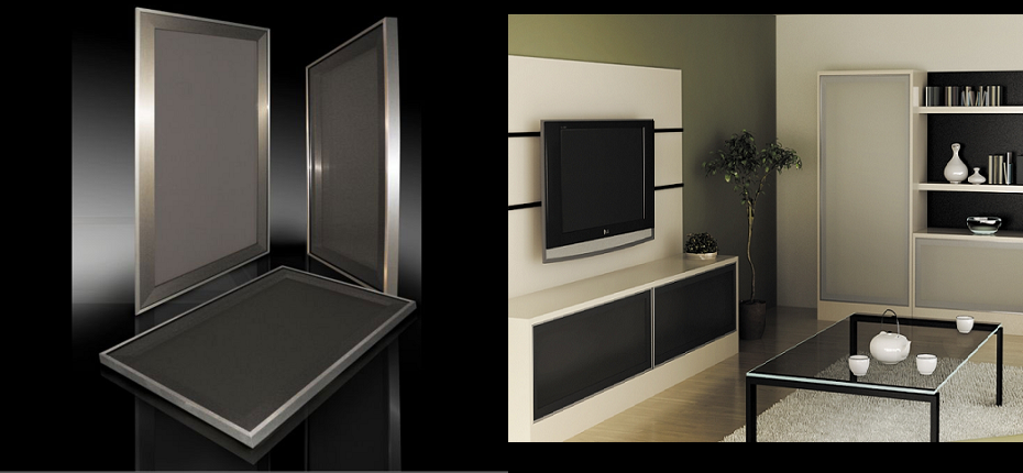 Stainless Steel Look Kitchen Doors « Aluminum Glass Cabinet Doors