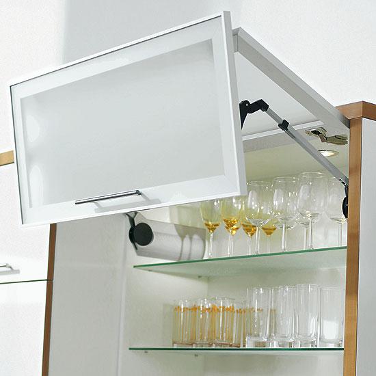 Blum Aventos Lift Up Systems 171 Aluminum Glass Cabinet Doors