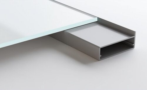 Aluminum Frame Glass Cabinet Doors Pisa