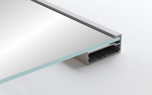 Aluminum Frame Glass Cabinet Doors Modena
