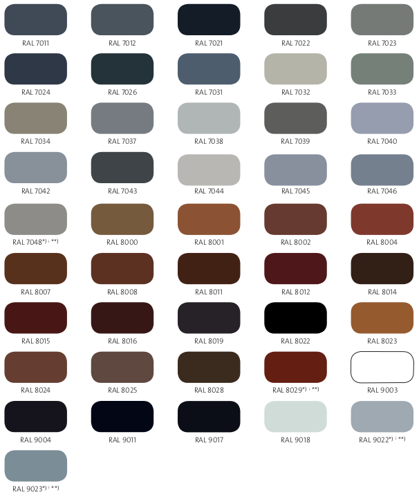 Ral Color Chart 171 Aluminum Glass Cabinet Doors