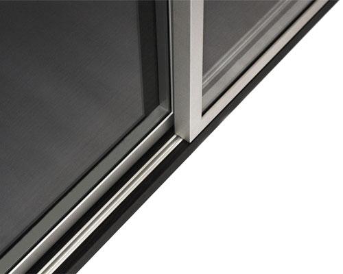 Aluminum frame cabinet sliding doors