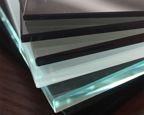 Glass inserts for aluminum frame cabinet doors