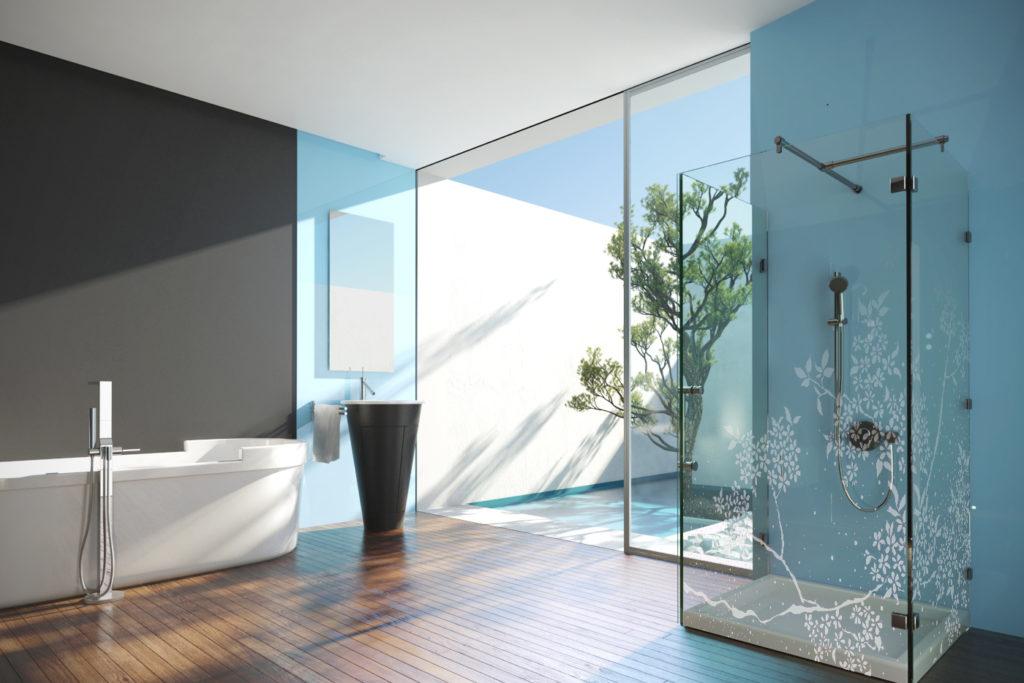 Painted Glass Lacobel Aluminum Frame Glass Cabinet Doors