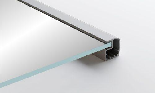 Aluminum Frame Glass Cabinet Doors Rena